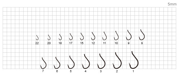 Крючок Mottomo Kantuki Marusode 096 таблица размеров