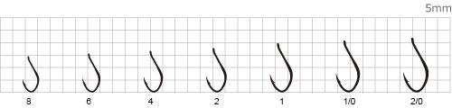 Крючки Kantuki Shinaji размерный ряд