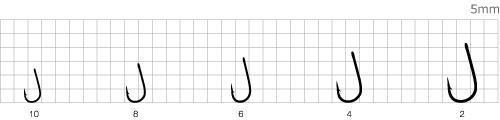 Крючки Mottomo Round размерный ряд