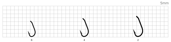 Крючки Mottomo Shiny Carp размерный ряд