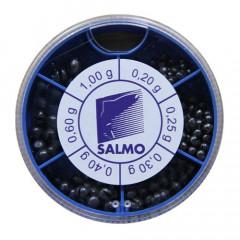 Грузила Salmo Дробинка PL 6 секций стандартные (от 0,2 до 1г) 100г набор