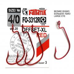 Офсетный крючок Fanatik FO-3312-XL Red №4/0 (3 шт.)