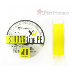 Плетеный шнур Mottomo Strong Line PE #0.8/5kg 150m Fluo Yellow