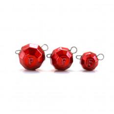Свинец Fanatik Гранёный груз разборный цвет Red, 14 гр (5 шт. в упаковке)