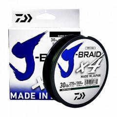Плетеный шнур Daiwa J-Braid X4 Green 0.10mm/270m