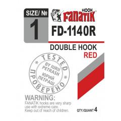 Двойной крючок Fanatik FD-1140 Red №1 (4 шт.)