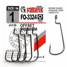 Офсетный крючок Fanatik FO-3324 №1 (4 шт.)
