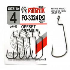 Офсетный крючок Fanatik FO-3324 №4 (5 шт.)