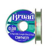 Леска Owner Broad 25m 0.14mm 2.2kg
