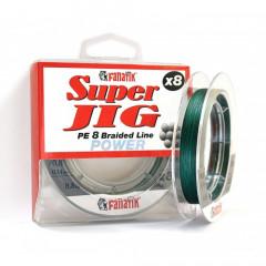 Шнур плетеный Fanatik Super Jig PE X8 100м #0.8 0.14мм 8.8кг Green