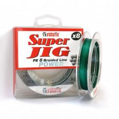Шнур плетеный Fanatik Super Jig PE X8 100м #1.2 0.18мм 12.0кг Green