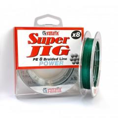 Шнур плетеный Fanatik Super Jig PE X8 100м #1.5 0.20мм 14.5кг Green