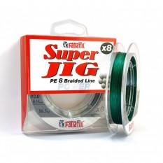 Шнур плетеный Fanatik Super Jig PE X8 100м #2.0 0.23мм 16.3кг Green