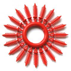 Держатель для силиконовых приманок «Ёлочка» 16 мм, 20 шт. красный