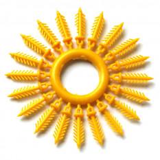 Держатель для силиконовых приманок «Ёлочка» 16 мм, 20 шт. желтый