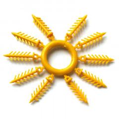 Держатель для силиконовых приманок «Ёлочка» 20 мм, 10 шт. желтый