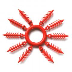 Держатель для силиконовых приманок «Ёлочка» 20 мм, 10 шт. красный