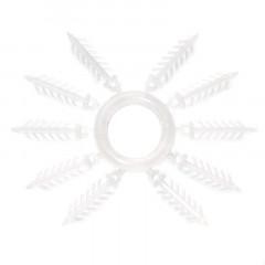 Держатель для силиконовых приманок «Ёлочка» 20 мм, 10 шт. прозрачный