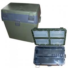 Ящик рыболовный зимний Salmo 2-х ярусный пластиковый 39,5Х24Х38