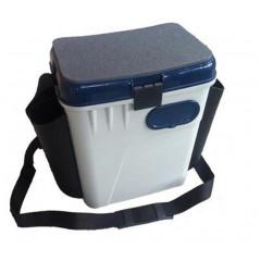 Ящик рыболовный зимний Salmo 2-х ярусный пластиковый с карманами 33,5х23,5х39