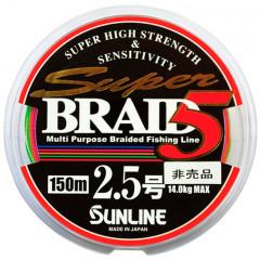 Плетенный шнур Sunline BRAID 5 150m #0.6/4kg