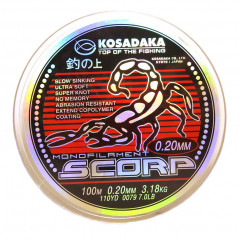 Леска Kosadaka SCORP 0,14мм 100м