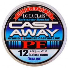 Плетёный шнур Sunline CAST AWAY PE 150m #0.6/10lb