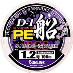 Плетёный шнур Sunline D-1 HYBRID PE FUNE 100м #0.6 10lb 4.2кг