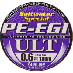 Плетёный шнур Sunline PE EGI ULT 120m HG #0.6/10lb