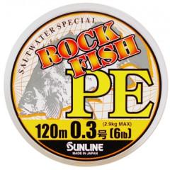 Плетёный шнур Sunline ROCK FISH PE 120m #0.3 6lb 2.9kg