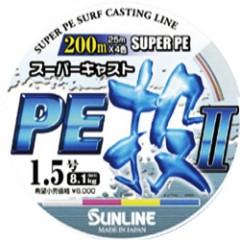 Плетёный шнур Sunline SUPER CAST PE NAGE II 200m #0.8/12lb