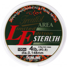 Леска Sunline TROUTIST AREA LE STEALTH 100m Yellow&Clear 0.148mm 2kg