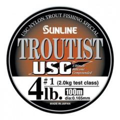 Леска Sunline TROUTIST USC 100m Natural Brown 0.128mm 1kg