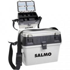 Ящик рыболовный зимний Salmo 2-х ярусный (из 2-х частей) пластиковый 38x24,5x29