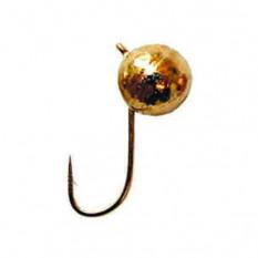 Мормышка вольфрамовая Salmo Шар с петел. 6 мм золото