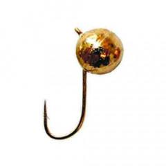 Мормышка вольфрамовая Salmo Шар с петел. 3 мм золото