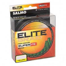 Плетеный шнур Salmo ELITE BRAID Yellow 125м 0,13мм 5,90кг