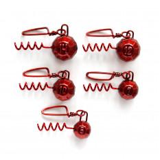 Набор свинцовых грузов Fanatik Штопор Red (5 шт. в упаковке)