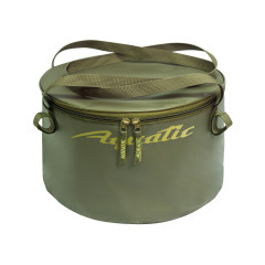 Ведро Aquatic В-06 для замешивания корма герметичное, с крышкой (20 литров, хаки)