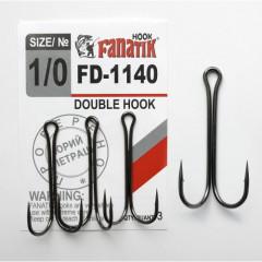 Двойной крючок Fanatik FD-1140 №1/0 (3 шт.)