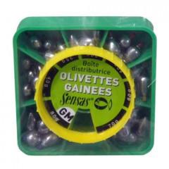 Набор скользящих грузов оливок большого размера Sensas OLIVETTE GM