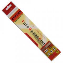 Поводки струна Тула 0,275 мм, 7 кг, 8 см (упак. 10 шт.)