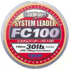 Флюорокарбон Sunline System Leader FC100 100m HG Clear 0.700mm 55lb 27.5kg