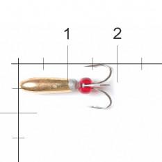 Мормышка вольфрамовая Lucky John Чёртик с отв. 3,8мм G