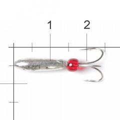Мормышка вольфрамовая Lucky John Чёртик с отв. 4,2мм S