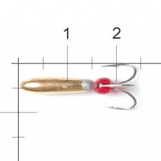 Мормышка вольфрамовая Lucky John Чёртик с отв. 4,2мм G