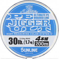 Плетёный шнур Sunline PE JIGGER ULT 4 200m #1.0/7.7kg