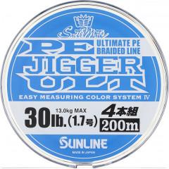 Плетёный шнур Sunline PE JIGGER ULT 4 200m #0.6/4.5kg