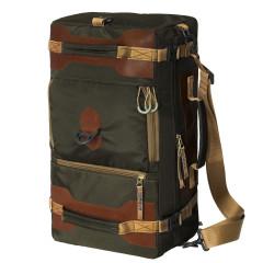 Сумка-рюкзак Aquatic С-27ТК с кожаными накладками (цвет темно-коричневый)