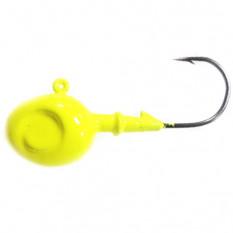 Джиг-головка Walleye на крючке Eagle Claw 3052-2/0 лимонный 10 гр.